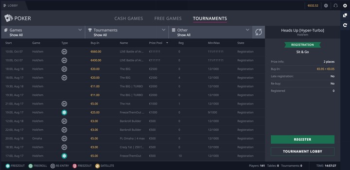 Daily Freeroll Tournaments - 475307