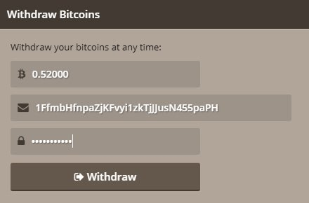Withdraw Bitcoin - 276513
